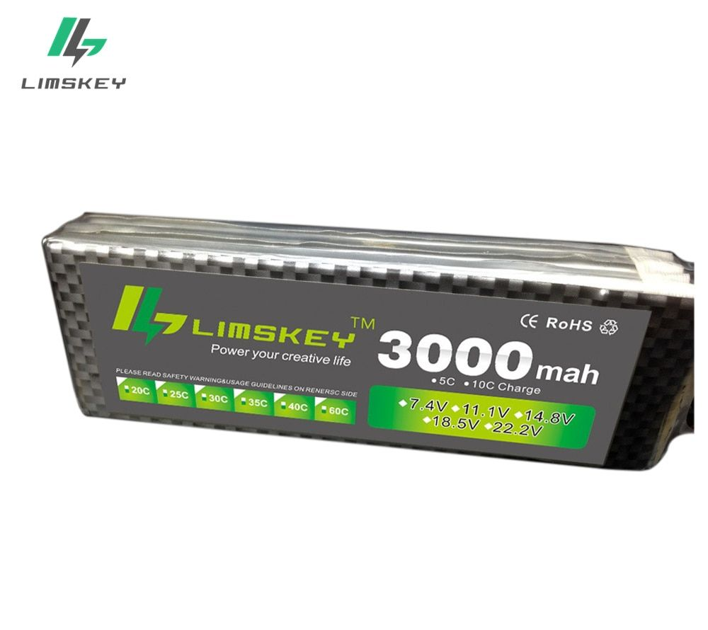 Limskey power 3S 11.1v 3000mah LIPO Battery 30C - 35C For Helicopter Four axis power T/XT60/JST Plug 3s lithium battery 11.1 V
