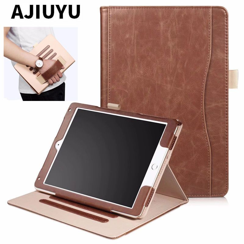 For iPad Air 2 9.7 Cover Case PU Leather Hand Holder Case For iPad Air II air2 9.7