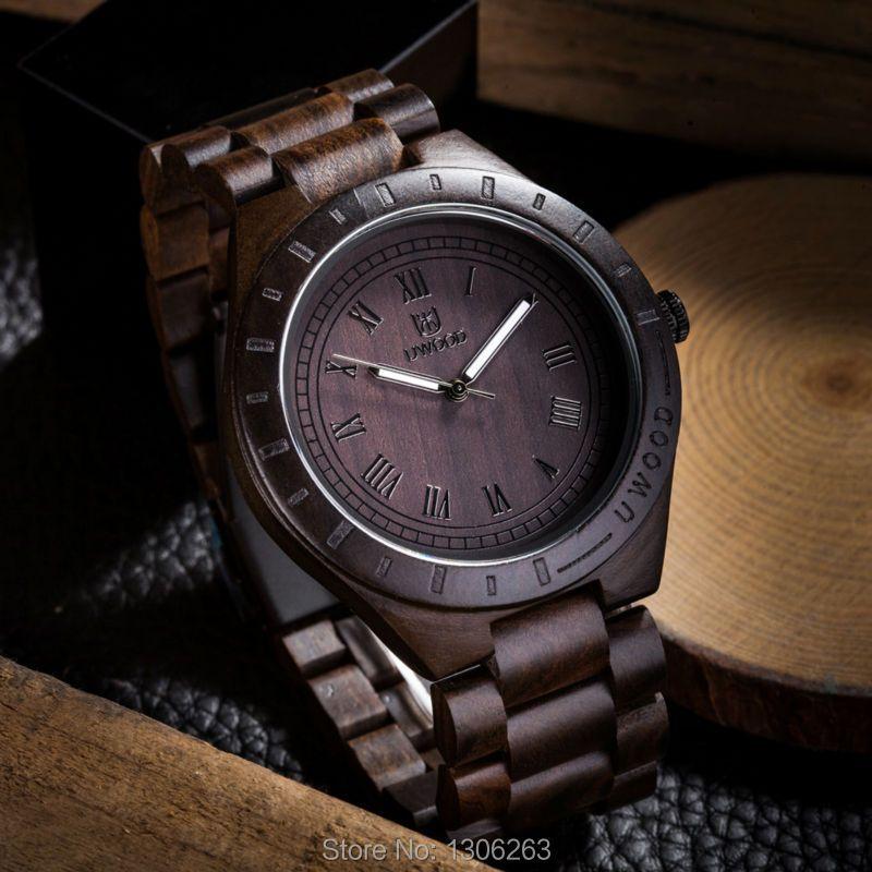 Simulation Wooden Watch Relojes Men Watches Casual Vintage Retro Stylish Wood Wristwatch Men Black Wood Watch Relogio Masculino