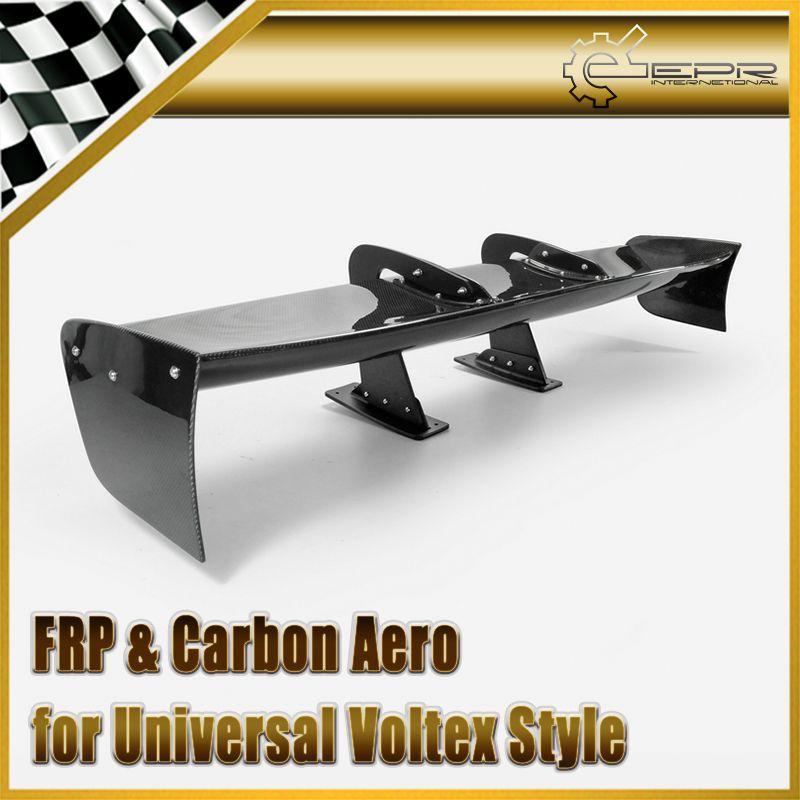 Car Accessories Universal Fitment Voltex Style Universal Swan Neck Carbon Fiber GT Spoiler Glossy Fibre VTX Trunk Wing Body Kit