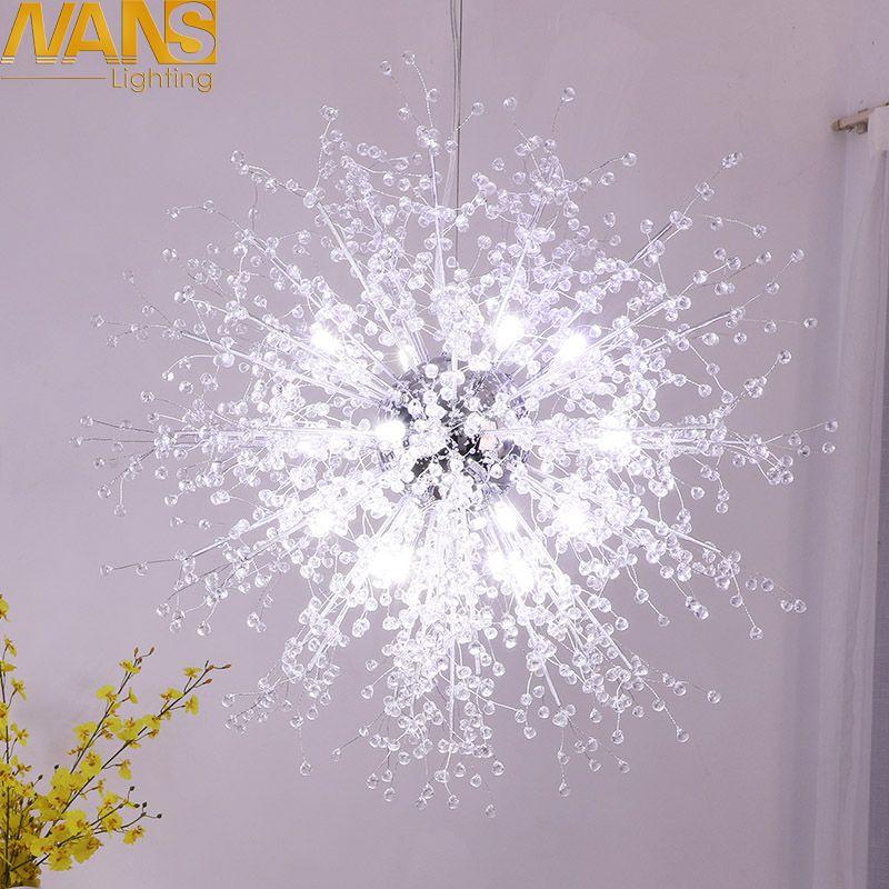 NANS Modern LED lamp vanity cristal imitation acrylic home decoration Chandeliers For Living Room lustres Wedding decoration
