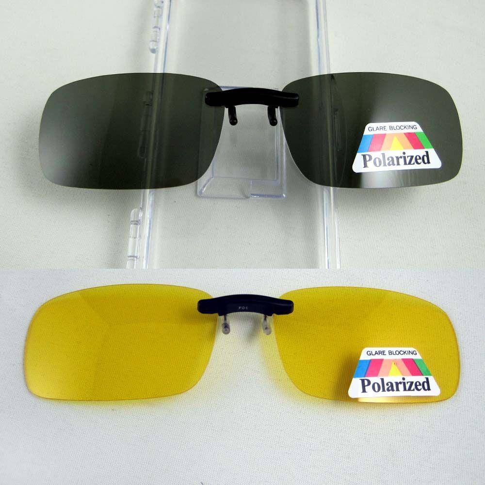 Super Léger lunettes de Soleil Polarisées Clip sur Jaune de Vision Nocturne Lunettes Unisexe Lunettes Clip Vert Foncé Objectif Aviate Lecteur Lunettes