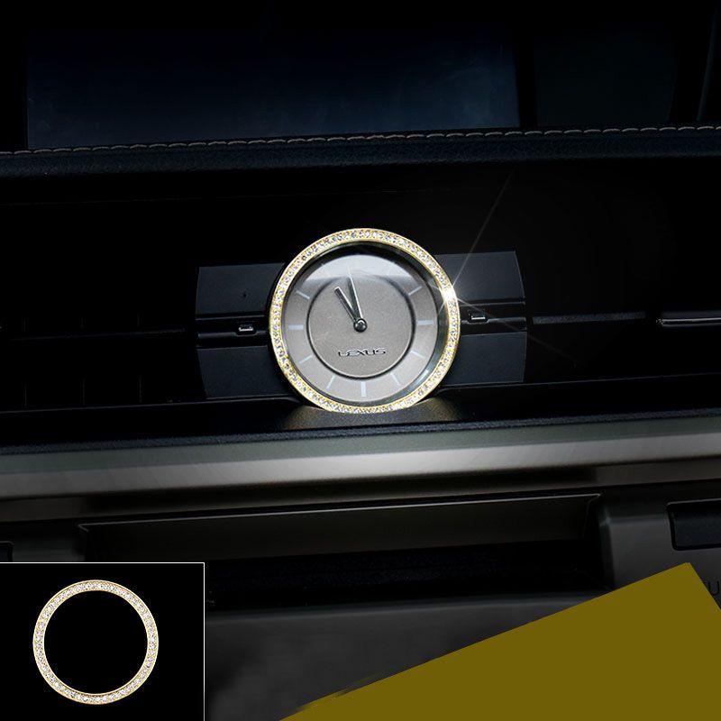 Lsrtw2017 diamant auto uhr ring trimmt für lexus es200 es250 es300h 2012 2013 2014 2015 2016 2017 2018 xv60