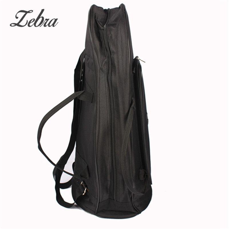 Zebra Simple Black Oxford Cloth Side Zipper Euphonium Protection Bag Case with Strap