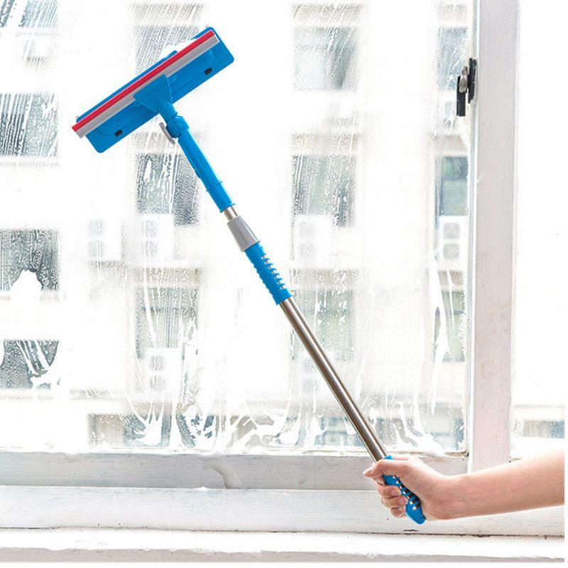 Brosse de nettoyage pour vitres brosse de nettoyage pour vitres Double face essuyer la fenêtre nettoyer la poignée pour étirer les outils de nettoyage