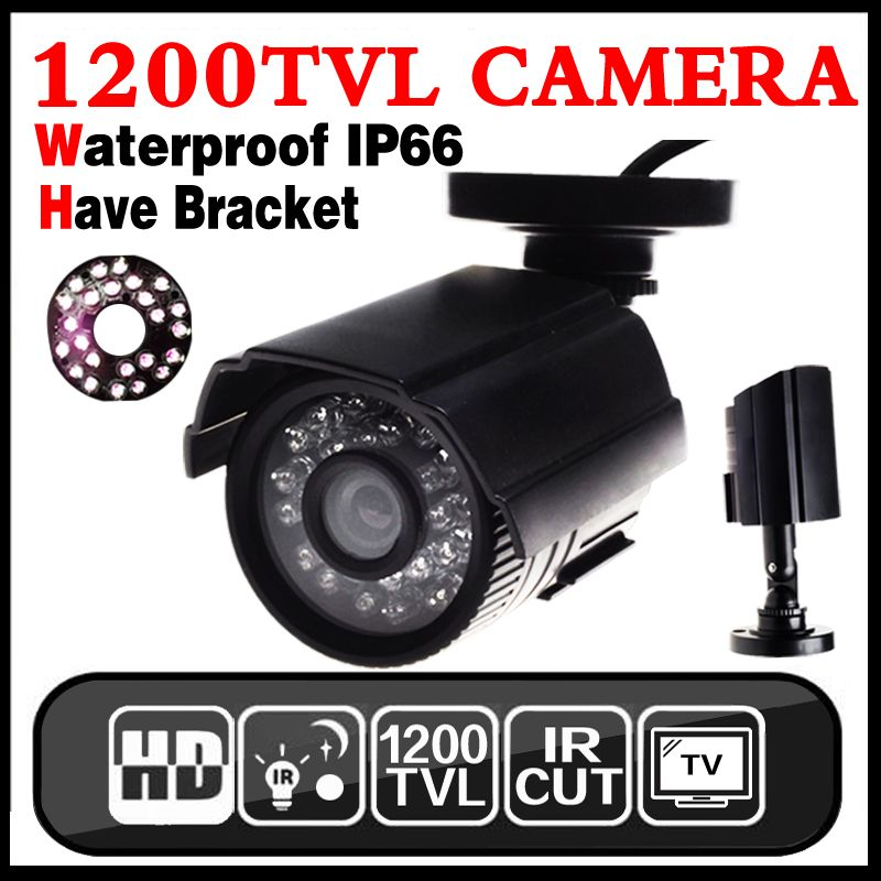 July Big Sale Real 1200TVL HD CCTV Mini Camera Outdoor Waterproof IP66 24led IR-CUT infrared Security Surveillanc Analog Vidicon
