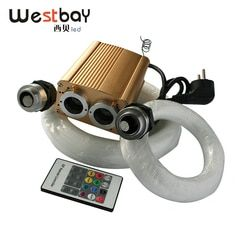 Westbay 32 واط RGB LED الألياف البصرية مجموعة إضاءة الألياف البصرية سقف على شكل نجمة ضوء عدة 200 قطع * 0.75 ملليمتر 200 قطع * 1.0 ملليمتر البصرية الألياف