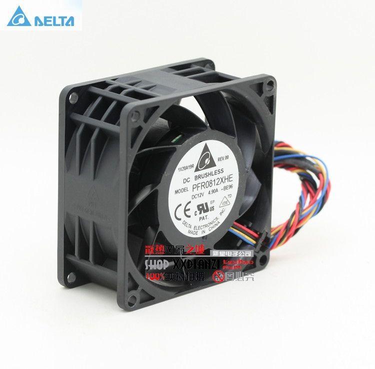 Pour delta Original 8038 dc12v 8cm super voiture booster violent ventilateur 4.9A PFR0812XHE 13000 80*80*38mm