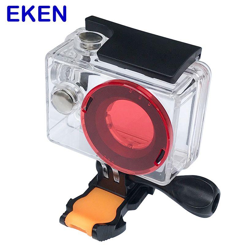 Eken Boîtier Étanche Logement 30 M Plongée Boîte avec protection de lentille Cap pour Eken H9 H9R H8 H8R H3 H3R V8S h8PRO F71R