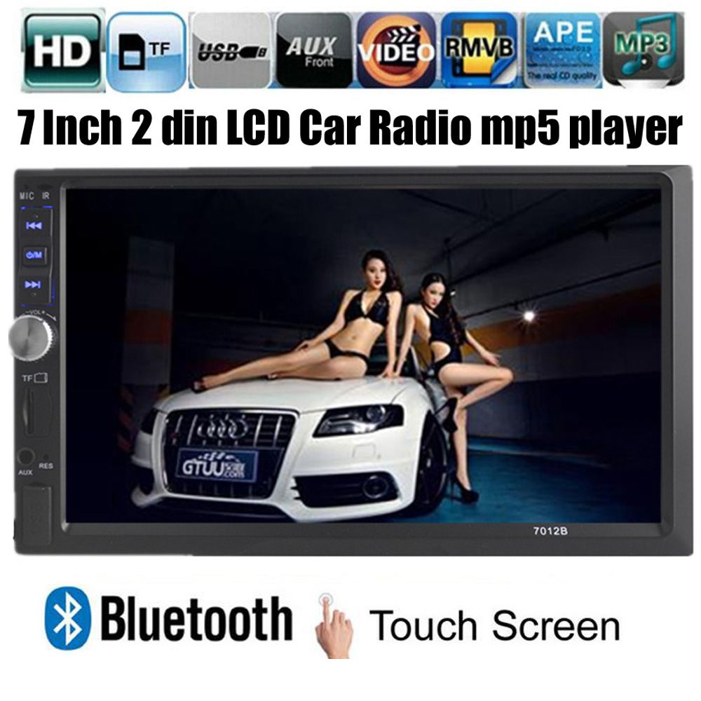 NEW 7'' inch LCD Touch screen car radio mp5 player BLUETOOTH HD 1080P movie Support rear view camera 2 din car audio in dash