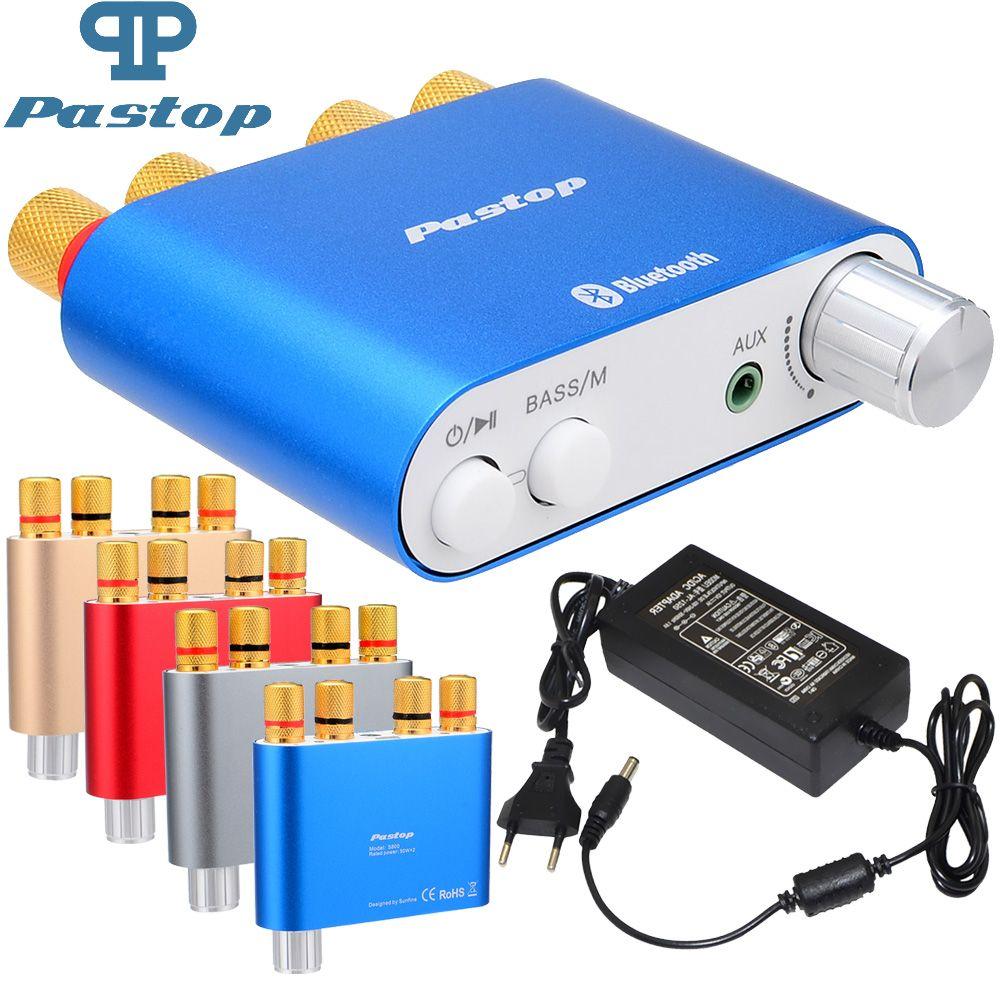Bluetooth Amplifier HiFi 100W TPA3116 Mini Bluetooth 4.0 Digital Amplifier Amp Home Audio Receiver With Power Supply-10000409_B