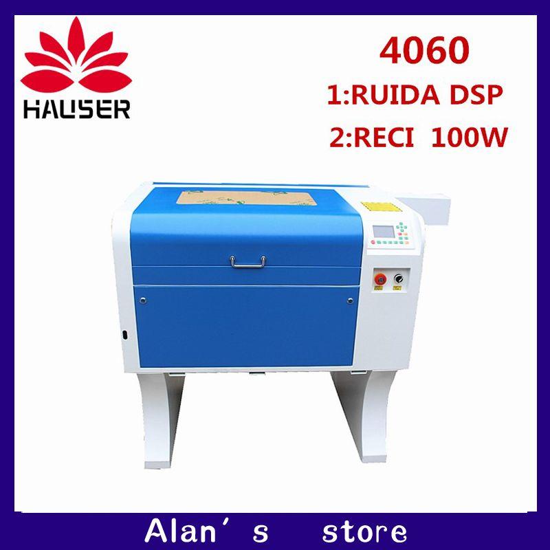 Co2 laser CNC RECI 100 4060 laser gravur cutter kennzeichnung maschine mini laser engraver cnc router laser kopf diy