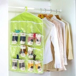 Hiasan dinding Storage Bag 16 Kantong Dinding Pintu Closet Hanging Ponsel/Kosmetik/Kacamata/Stasioner/Penyimpanan Kunci tas Organizer