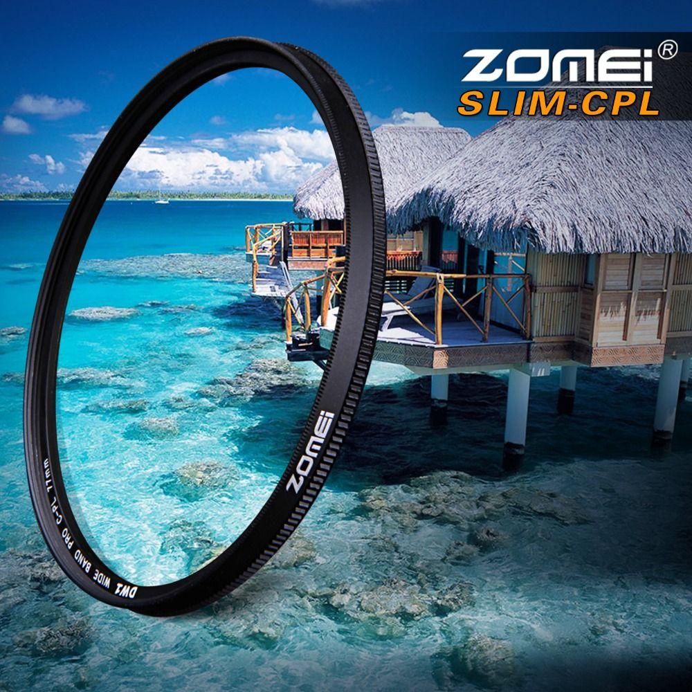ZOMEI Ultra Slim AGC Optical Glass PRO CPL Circular Polarizing Polarizer Camera Lens Filter 52/55/58/62/67/72/77/82mm