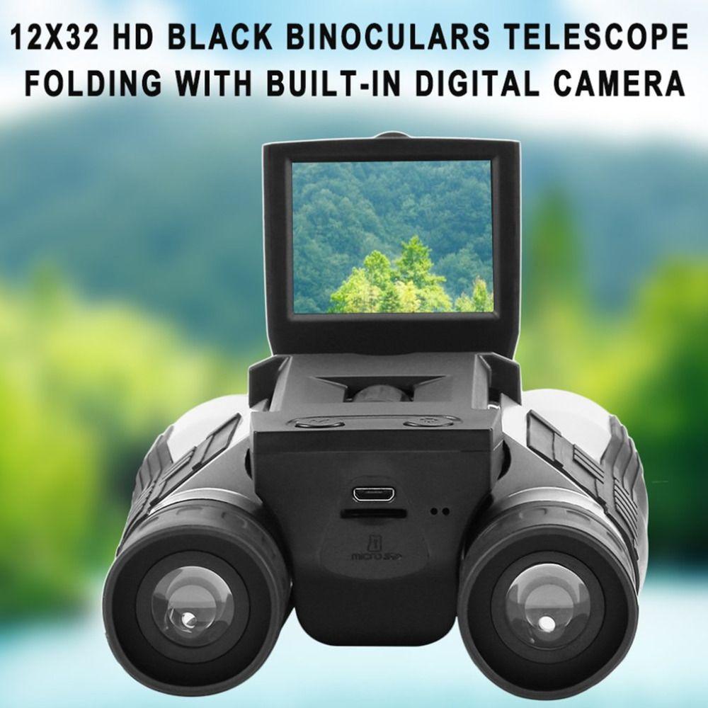 Leistungsstarke 12x32 Fernglas Teleskop LCD digitalkameras 5 MP Digitalkamera 2,0 ''TFT Display Volle HD1080p Teleskope Web-kamera