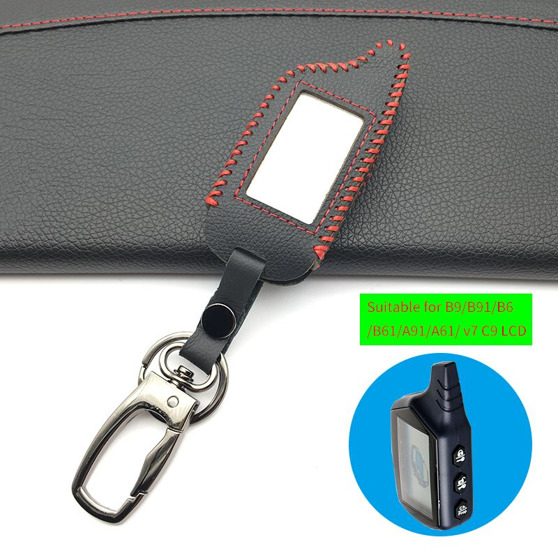 For Starline B9 B9 / B91 / B6 / B61 / A91 / A61 / V7 C9 LCD Shape Of 2018 Super Quality Remote Car Alarm Leather Key Case Cover