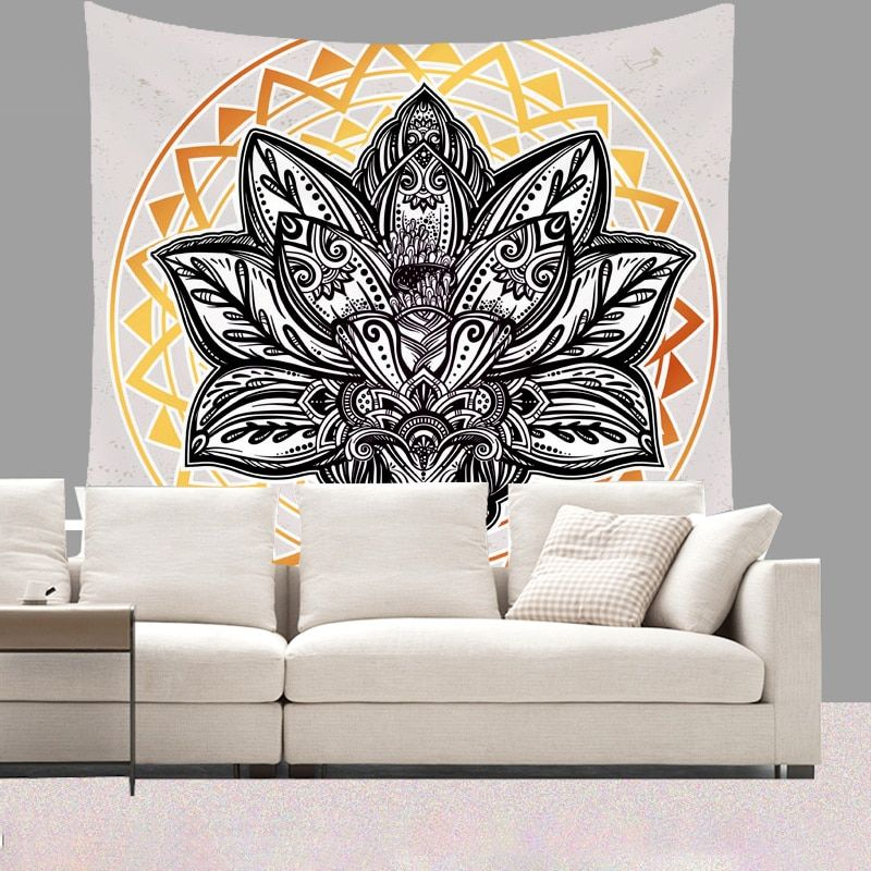Smiry 130X150cm Short Plush Tapestry Mandala Bohemia Wall Hanging Animal Moon <font><b>Wolf</b></font> Guns Yoga Mats Beach Towel Decor Livingroom