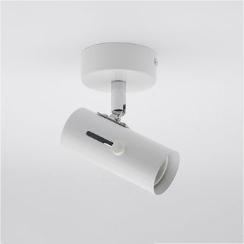 Rotatable E27 Lamp Holder Base Ceiling Wall Mounted Spot Bulb Holder Socket 180 Degree Rotating Black White lampholder