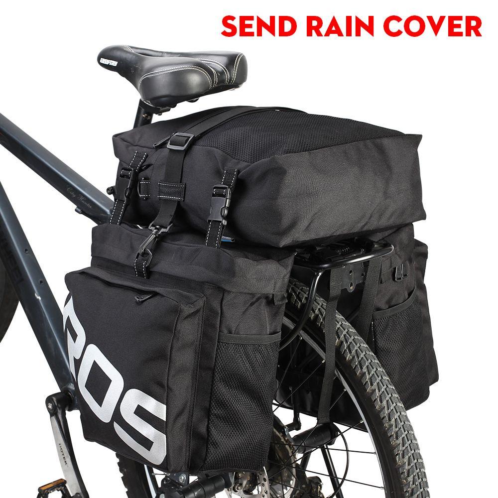 ROSWHEEL Fahrradtasche 37L MTB Mountainbike Rack Bag 3 in 1 Multifunktions Straße Fahrrad Rear Seat Trunk Bag