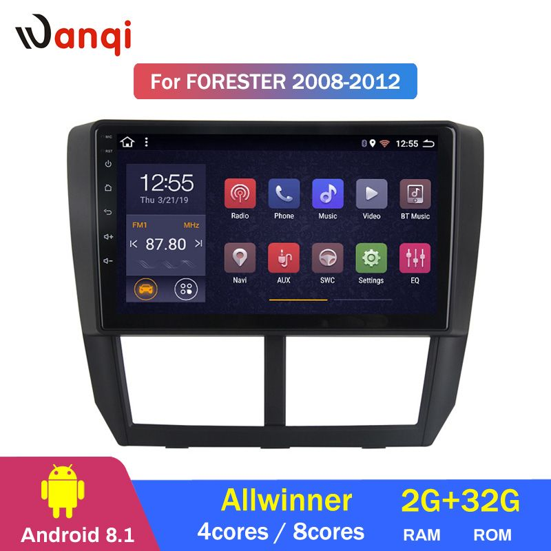 2G RAM 32G ROM Android 8.1 Auto DVD Multimedia Player GPS für Subaru Forester 2008-2012 radio stereo navigation