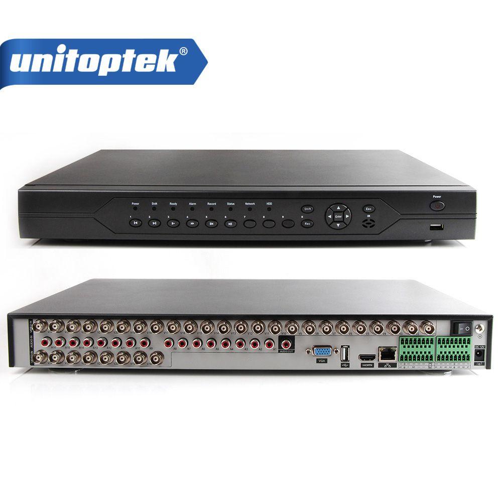 32Ch 1080N AHD CCTV DVR, 32Ch 1080P NVR, 8Ch 1080N + 8Ch 960P HVR 3 in 1 Video Recorder Support Max 32Pcs AHD Security Cameras
