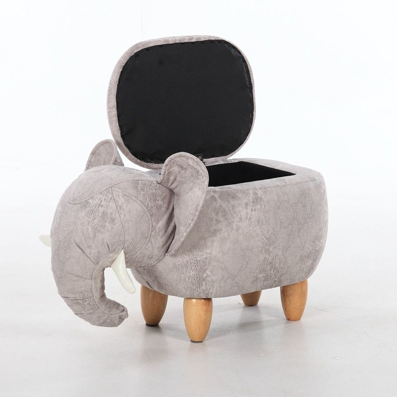Hot Sale Antique Porcelain Elephant Shoes Stool Storage Sitting Room Sofa Chair Fabric Modern Stools Furniture Fun Novelty Real
