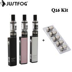 Original Justfog Q16 Starter Kit 900mah Battery with 1.9ML Q16 Clearomizer Tank Electronic Cigarette Vape Pen Vaporizer Kit