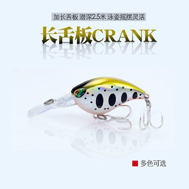 1 Pcs Mini crank angeln locken 6 cm 5g Chubby Spinner köder Crankbait 3D Augen Harten köder tiefe 1,5 m-2,5 m bass Minnows angelgerät