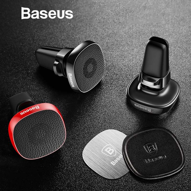 Baseus Metal Car Phone Holder For iPhone X 8 Sumsung S9 Xiaomi Mobile Phone Holder Stand Air Vent Mount Magnetic Phone Holder