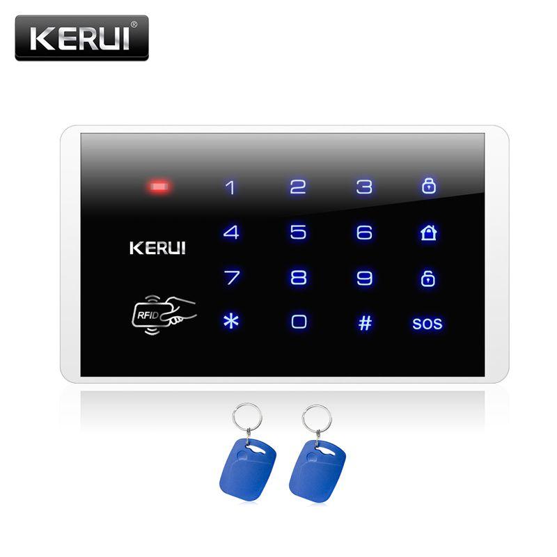 KERUI Nueva K16 RFID Teclado Táctil Para Inalámbrico PSTN GSM Sistemas de Alarma Antirrobo Sistema de Control de Acceso Contraseña Del Teclado Inalámbrico