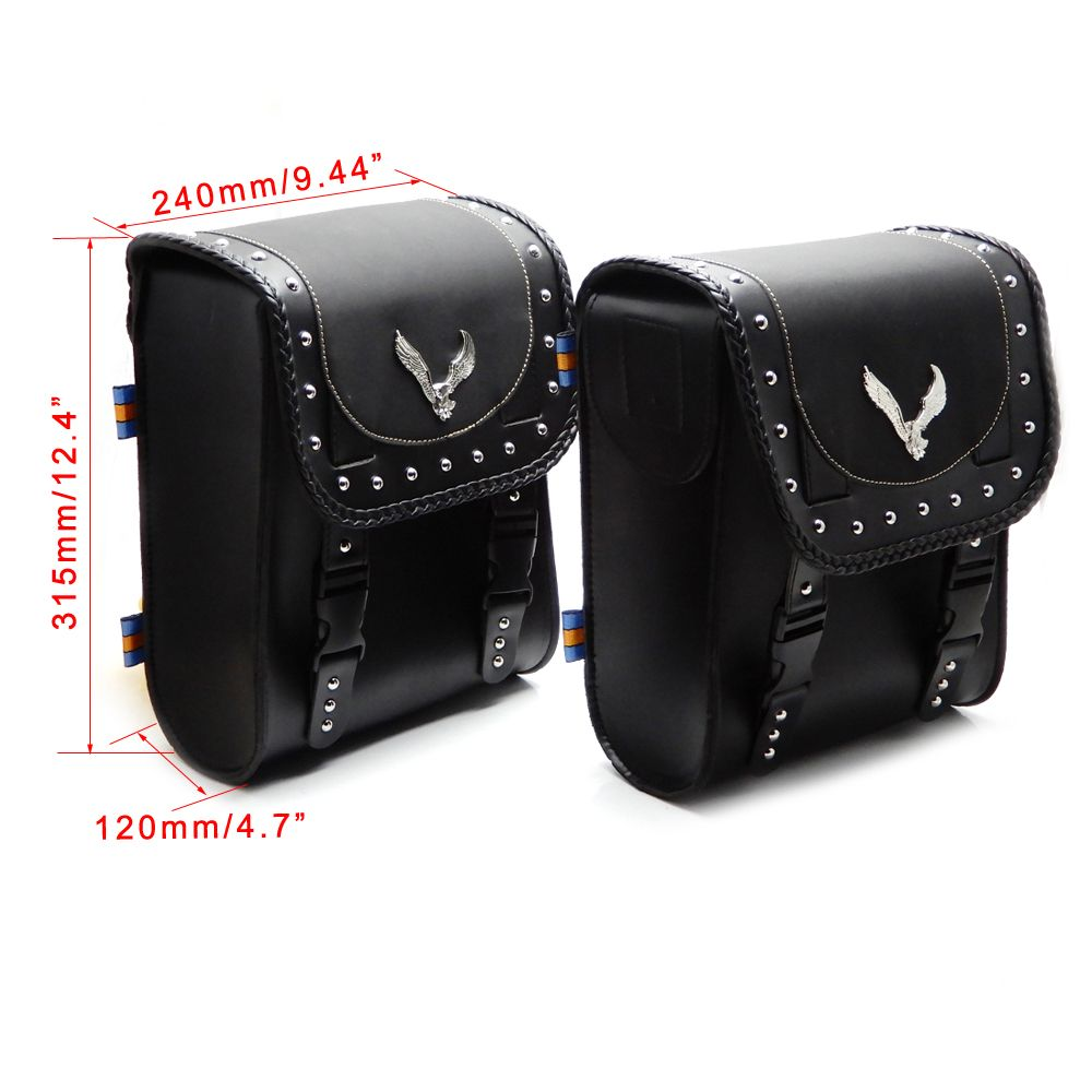 Universal Motorcycle Luggage Front Fork Tool Bag Leather Bag Synthetic Handlebar Bags for Harley Sportster Dyna For BMW R1200gs