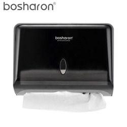 Tangan Kertas Handuk Dispenser Z Lipat Dinding Mount Plastik ABS Pemegang Kotak Tisu untuk Lembar Kertas Dapur Aksesoris Penyimpanan