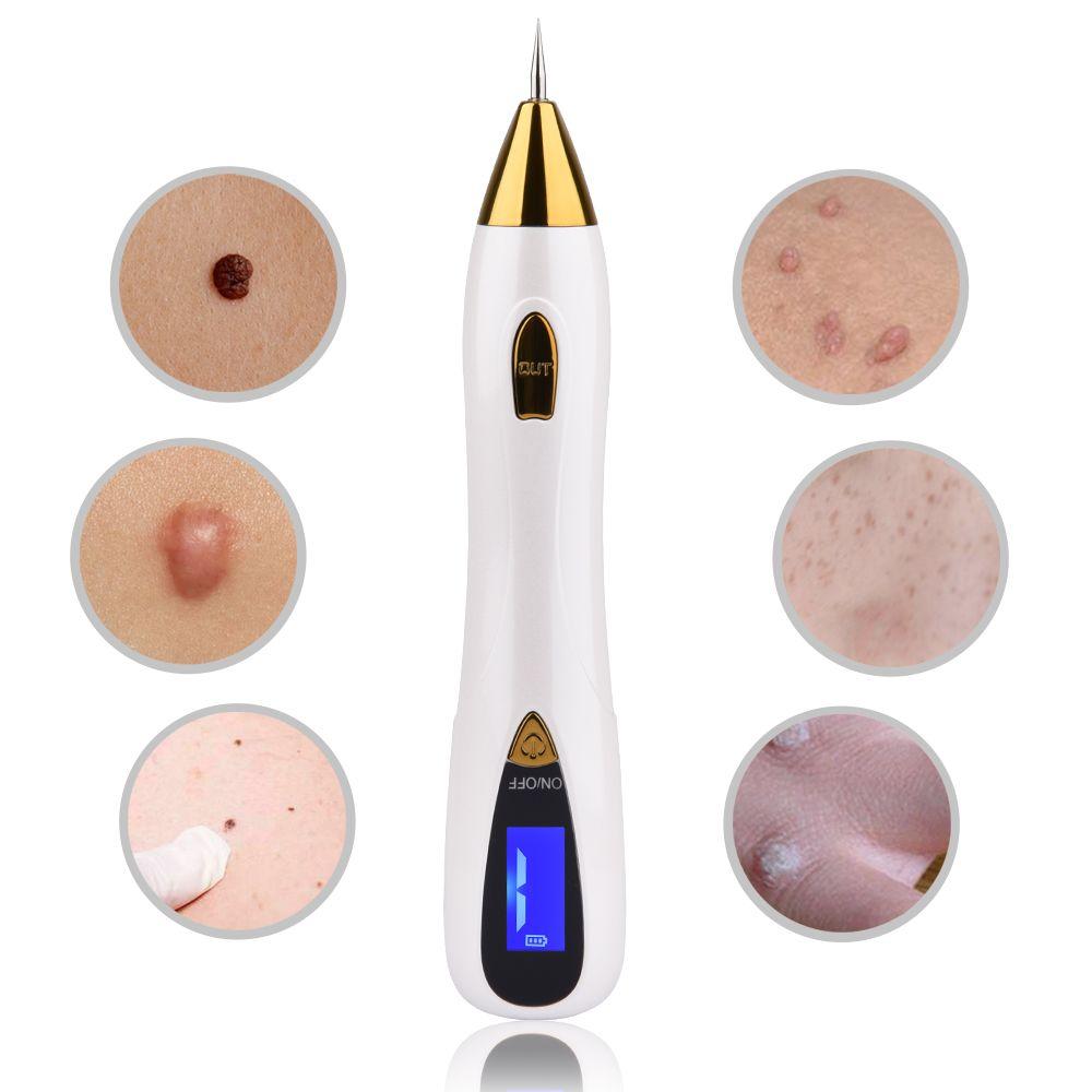 LCD Affichage Laser Déplacement de Taupe Outil Spot Remover Élimination Des Taches de Rousseur Stylo pour éliminer les Verrues Machine Soins de La Peau Salon de Beauté À Domicile Dispositif