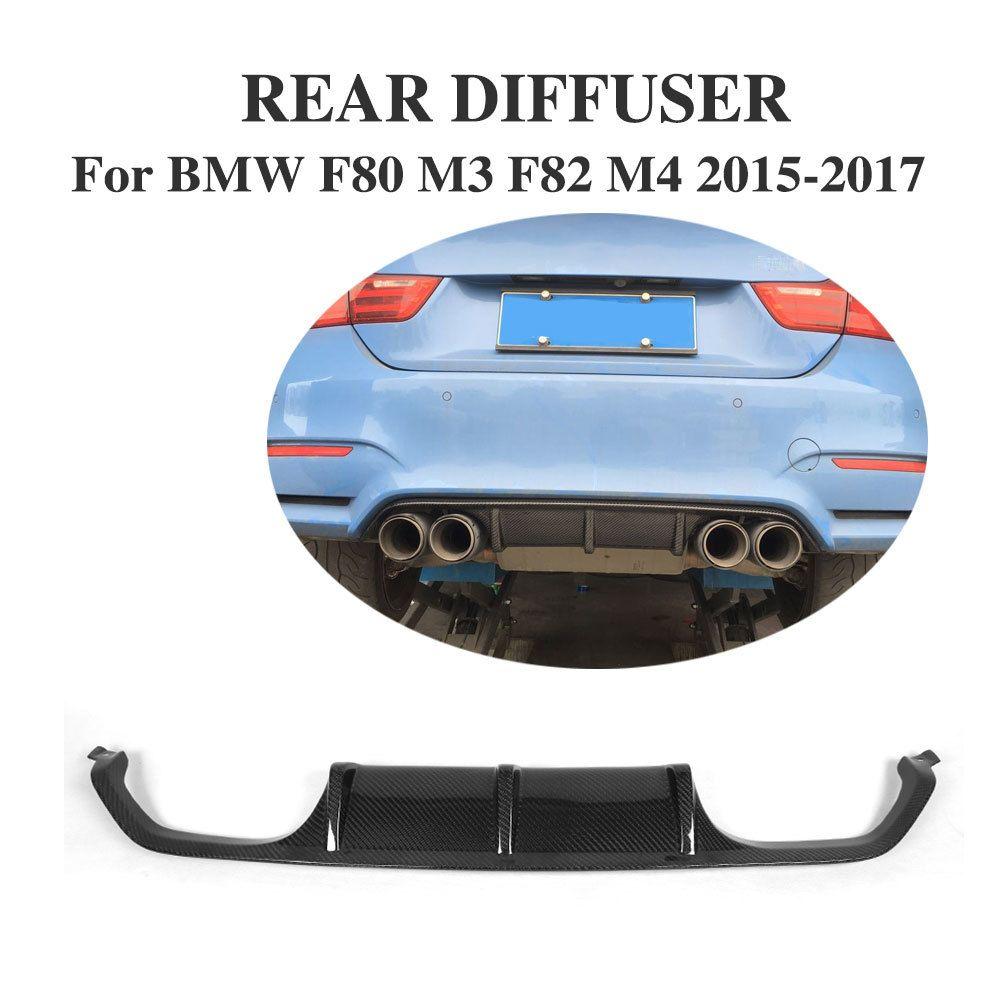 Freies Verschiffen F80 Carbon Faser/Fiberglas Auto Hinten Diffusor Lip Stoßstange Wache Schutz Spoiler für BMW M3 F82 F83 m4 2014-2017