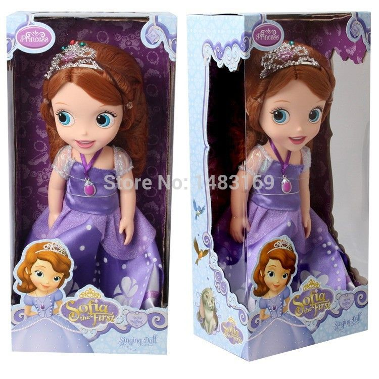 2016 Chaude Maintenant mode édition Originale Sofia la Première princesse poupée VINYLE jouet boneca accessoires Poupée Pour Les Enfants Le Meilleur Cadeau