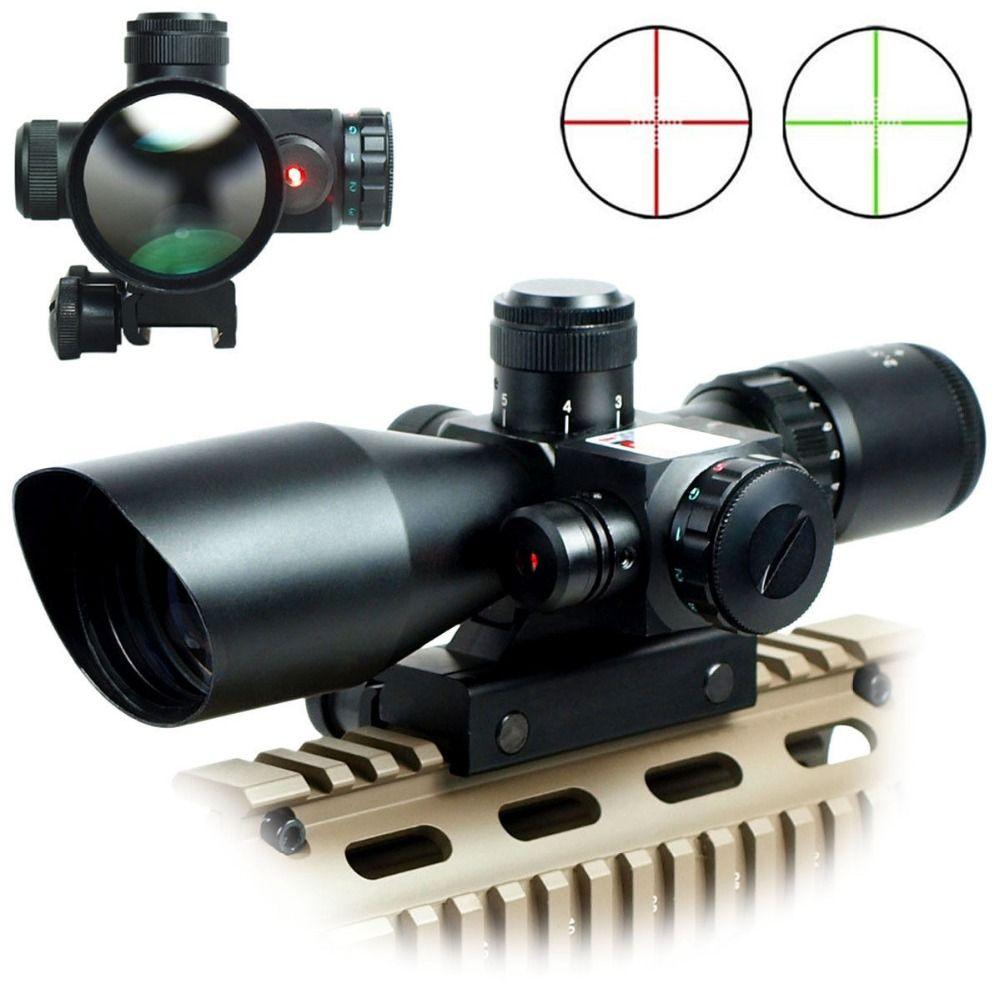 2.5-10x40er оптика винтовка Охота красный/зеленый лазерный прицел с Red Dot Сфера комбо страйкбол пистолет оружие прицел