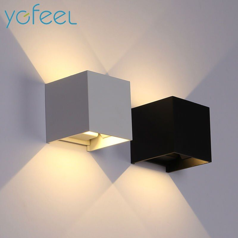 [YGFEEL] 6W LED Wall Light Outdoor Waterproof IP65 Modern Nordic style Indoor Wall Lamps Living Room Porch Garden Lamp AC90-260V
