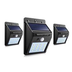 Path Lights LED Solar Power PIR Motion Sensor Wall Light Outdoor Waterproof Street Yard Home Garden Security Lamp Auto ON/OFF