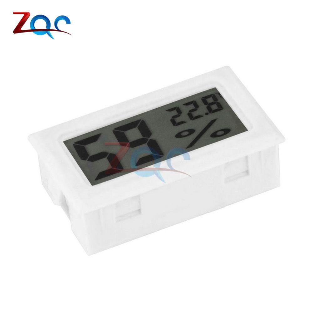 White Mini LCD Digital Thermometer Hygrometer Temperature Indoor Convenient Temperature Sensor Humidity Meter Gauge Instruments