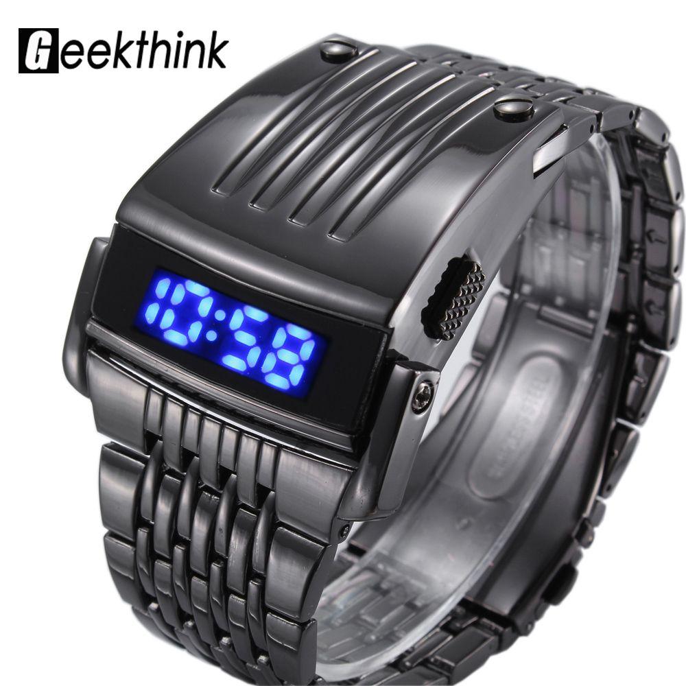 Marca de moda Reloj Deportivo Digital Led de Los Hombres Militar Reloj de Pulsera hombre relojes de Lujo Reloj de Acero Llena Masculino 2017 Nuevo Relogio