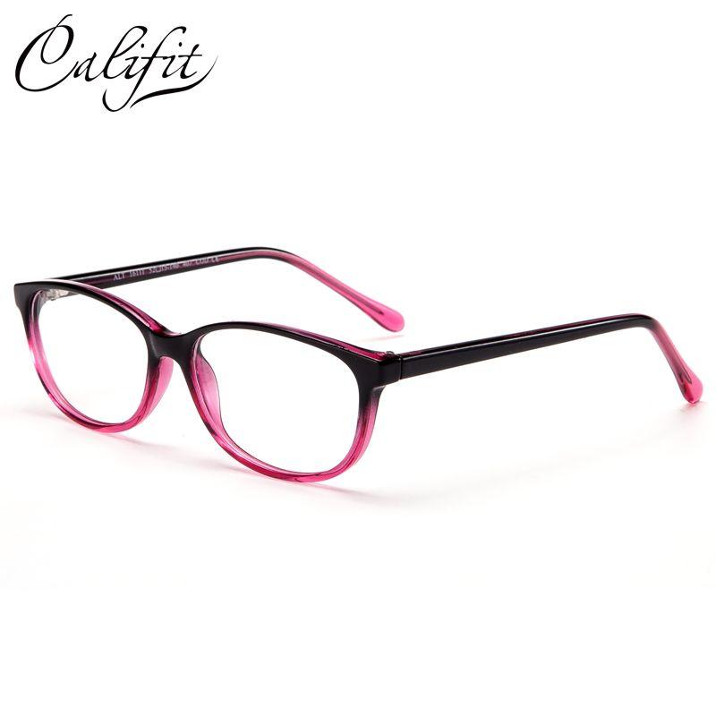 Califit Овальный полупрозрачные Рамки оптический Очки Для женщин Винтаж бренд Дизайн рецепт Очки женские очки высокое качество