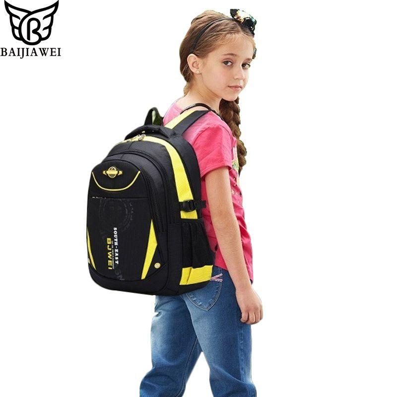BAIJIAWEI 2017 Children School Bags Children Backpack In Primary School Mochila Escolar for Girls Boys Waterproof Backpacks
