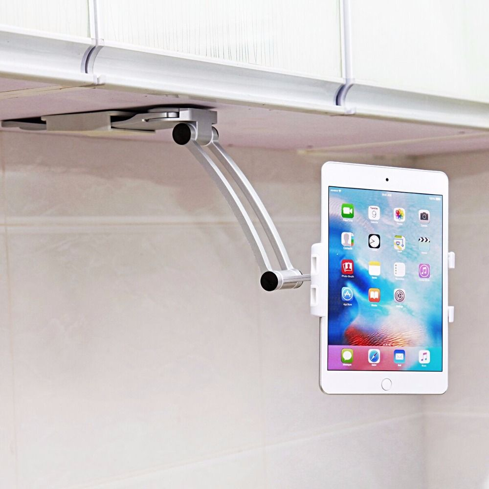 2018 Car Phone Holder For Kitchen Tablet Mount Stand 2-in-1 Wall / Countertop Fit For 13.4cm To 19cm Width And For Iphone 7plus