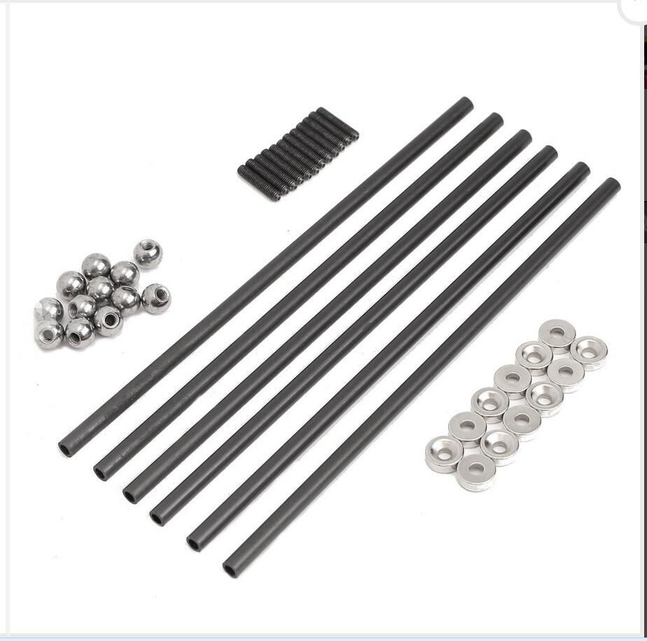 DuoWeiSi 3D Printer Parts 200MM 4x6 MM Diagonal Push Rod L200 With Magnetic Ball Joint And Steel Ball For Kossel 3D Printer