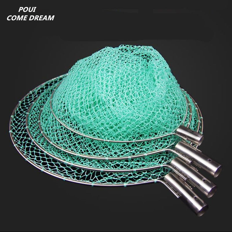 strong nylon line Depth 60cm landing net of head nylon net fishing net fishing network turck net dipneting fishing tool