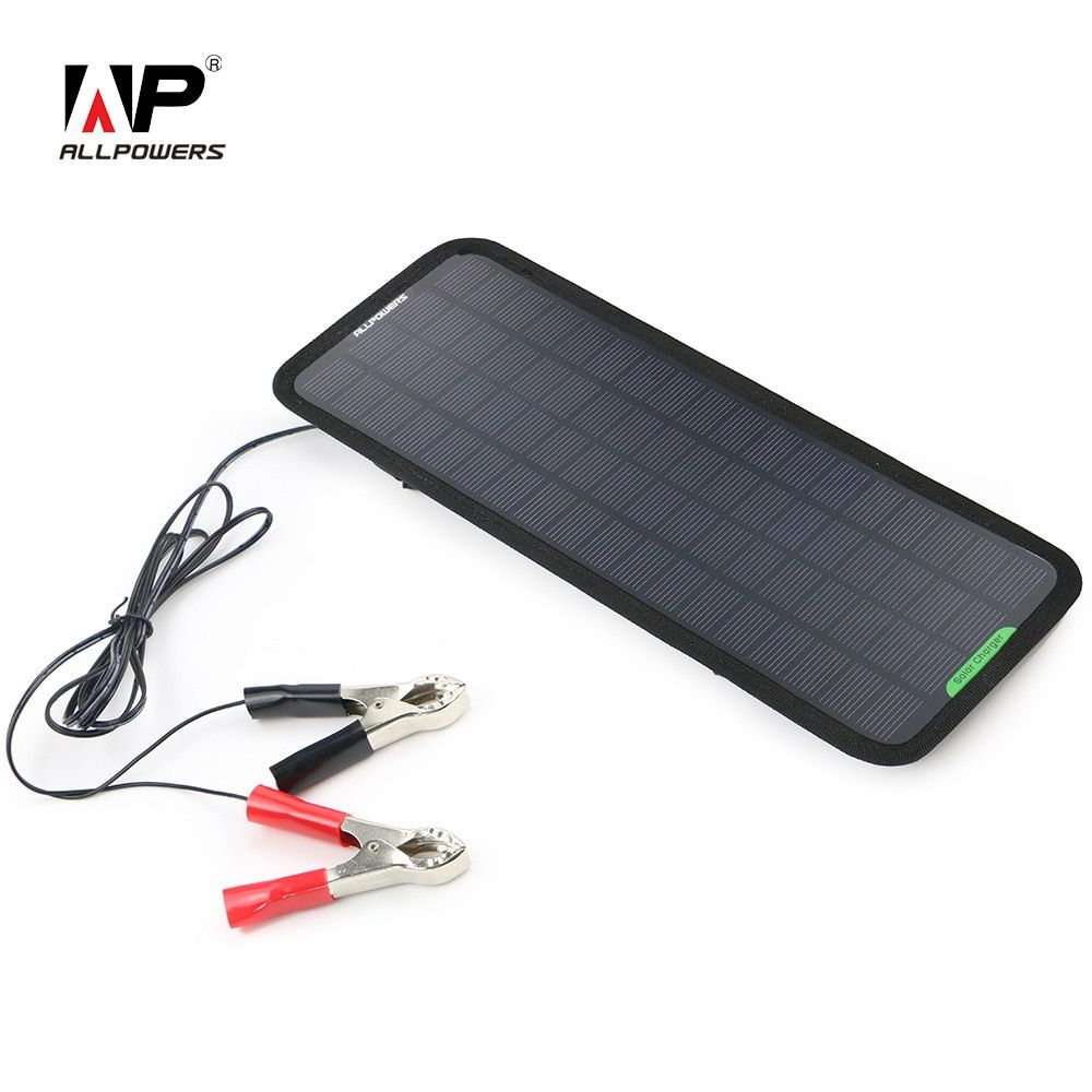 ALLPOWERS <font><b>Solar</b></font> Panel Car Charger 12V Battery Charger Maintainer Charger for Automobile Motorcycle Tractor Boat RV Batteries