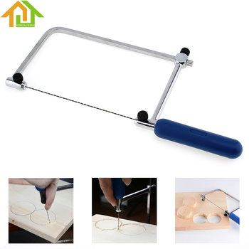 DIY Portable Woodworking Saw Hand Tool  U Shape Hacksaw with 2 Blades for Wood / Metal /  Plastic Tube / Wire
