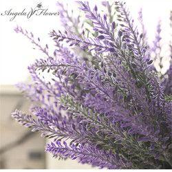 Provence romántico decoración flor de lavanda seda flores artificiales grano decorativo simulación de plantas acuáticas