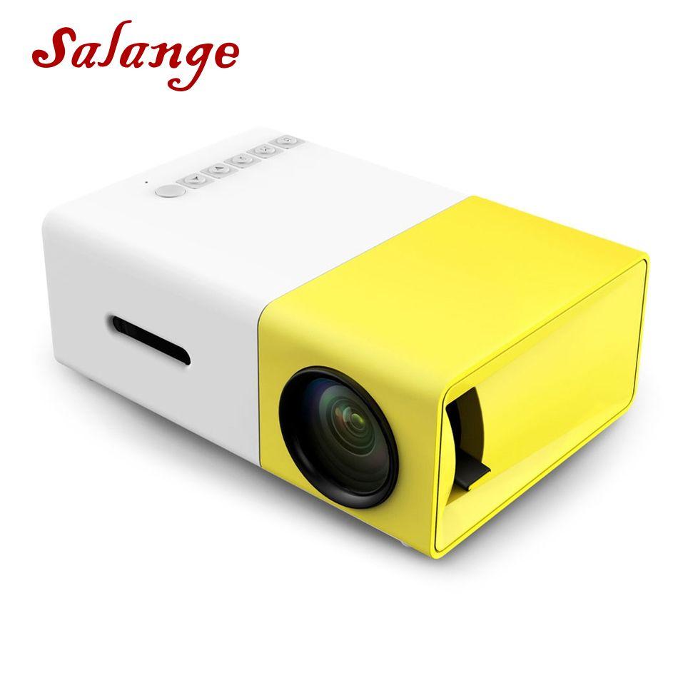 Salange YG300 LED Projector 600 lumen 3.5mm Audio 320x240 Pixels YG-300 HDMI USB Mini Projector Home Media Player
