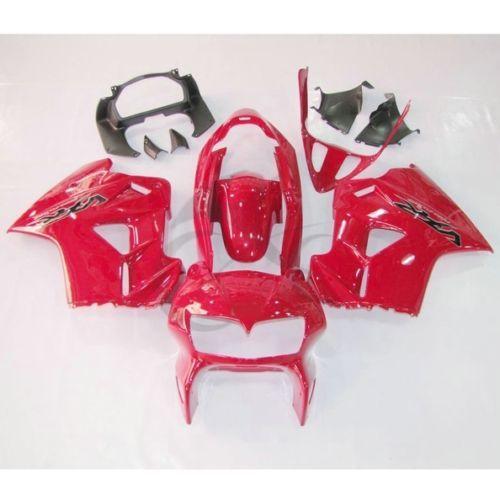 Red Plastic Fairing Cowl Bodywork Kit For Honda VFR800 VFR 800 98-01 99 00 3A